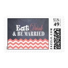 Cora, Chevron Wedding Stamps