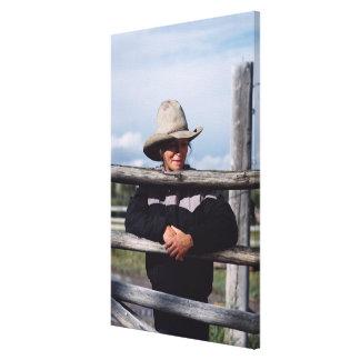 Cora, Wyoming, los E.E.U.U. Impresión En Lienzo Estirada