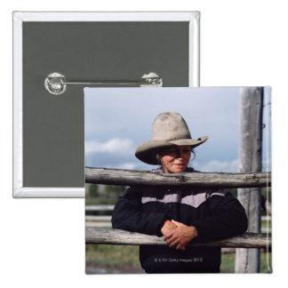 Cora, Wyoming, los E.E.U.U. Pin Cuadrado
