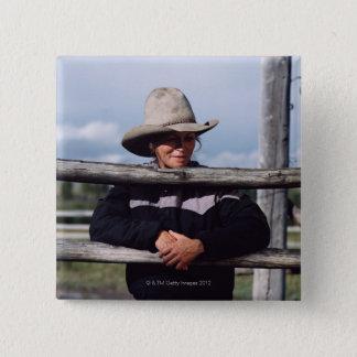 Cora, Wyoming, USA. Pinback Button