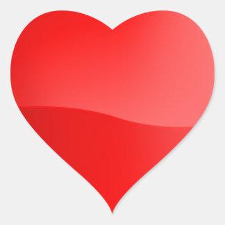 Coração vermelho brilhante heart sticker