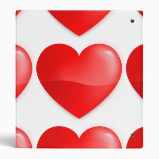 Coração vermelho vibrante binder