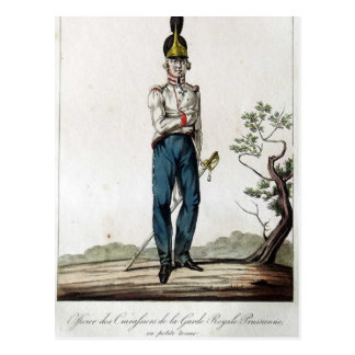 Coracero prusiano del guardia tarjeta postal