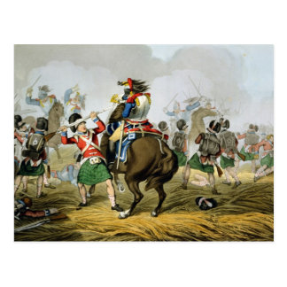 Coraceros franceses en la batalla de Waterloo, Tarjeta Postal