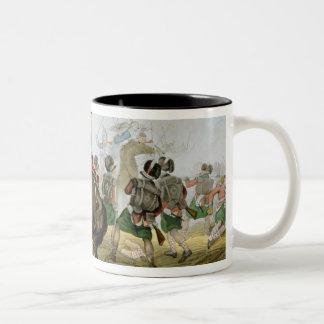 Coraceros franceses en la batalla de Waterloo, Taza De Dos Tonos