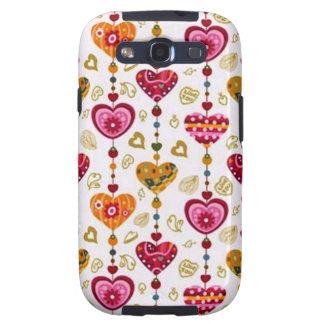 corações de COM del padrão Galaxy S3 Cobertura