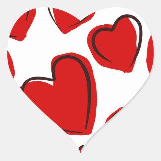 Corações vermelhos heart sticker