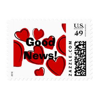 Corações vermelhos postage