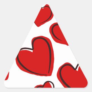 Corações vermelhos triangle sticker