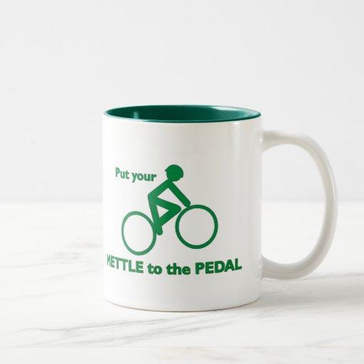 Coraje al pedal tazas