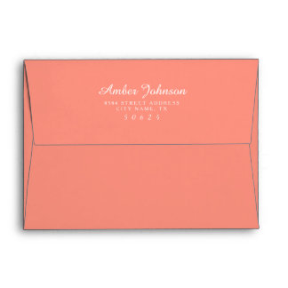Coral 5 x 7 Pre-Addressed Envelopes