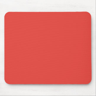 CORAL (a solid rich reddish-pink color) ~ Mouse Pad