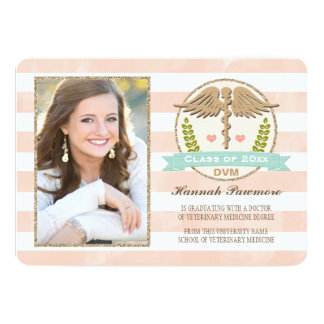 Coral and Aqua Vet School Graduation Announcements