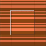 [ Thumbnail: Coral and Brown Colored Lined/Striped Pattern Fabric ]