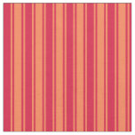 [ Thumbnail: Coral and Crimson Colored Lined/Striped Pattern Fabric ]
