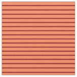 [ Thumbnail: Coral and Dark Red Stripes Fabric ]