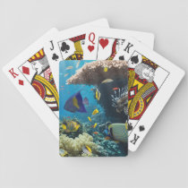 Coral and fish in the Red Sea, Egypt Playing Cards