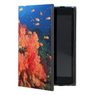 Coral and fish iPad mini case