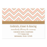 Coral and Gold Chevron Reception Enclosure Cards Large Business Cards (Pack Of 100)