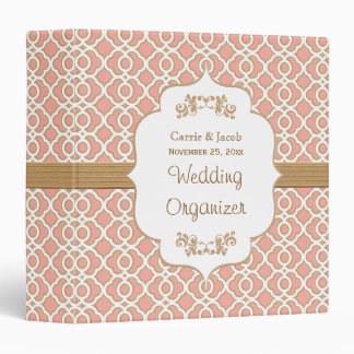 Coral and Gold Moroccan Wedding Planner Binder