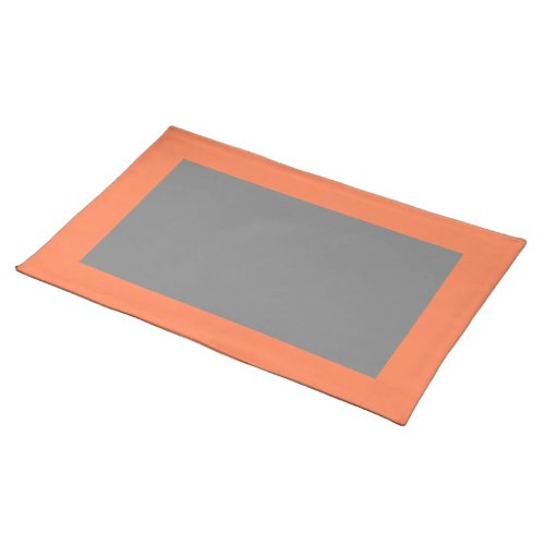 Coral and Gray Placemat