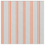 [ Thumbnail: Coral and Light Grey Colored Pattern Fabric ]