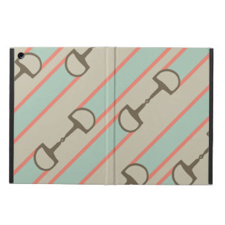 Coral and Mint Horse Bit Ribbon Pattern iPad Air Case