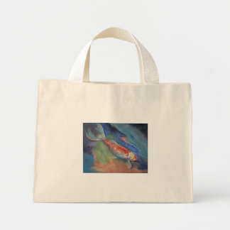 Coral and Moonstone Mini Tote Bag