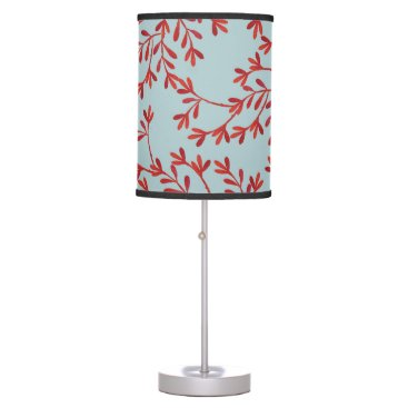 Beach Themed Coral and Ocean Blue Lamp Shade