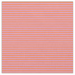 [ Thumbnail: Coral and Plum Stripes Pattern Fabric ]