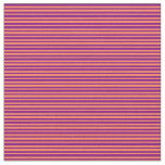 [ Thumbnail: Coral and Purple Colored Lined Pattern Fabric ]