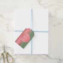 Coral and Sage Green Polka Dots Gift Tags