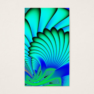 Coral and Sea Fans Fractal Business Card