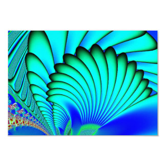 Coral and Sea Fans Fractal 3.5x5 Paper Invitation Card