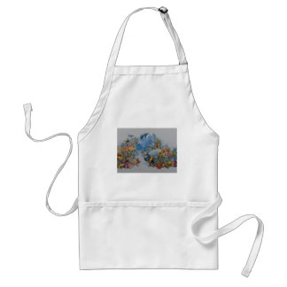 Coral and Tropical Fish Adult Apron