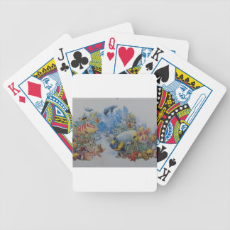 Coral and Tropical Fish Bicycle Playing Cards