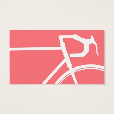 Professional Business Coral and white bicycle Business Card