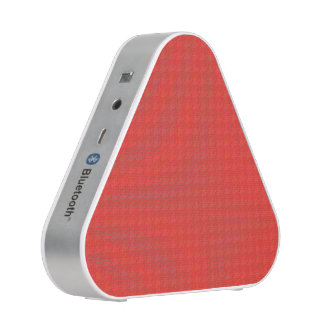 Coral and White Houndstooth Speaker