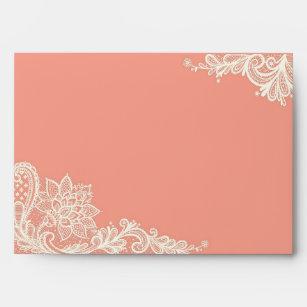 coral envelopes zazzle