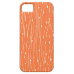 Coral and White Lines iPhone 5 Case