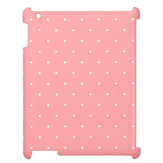 Coral and White Polka Dot Spots Cover For The iPad