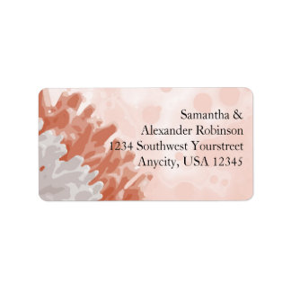 Coral and White Reef Address Label