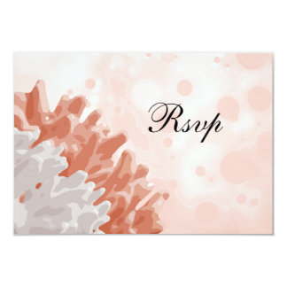 Coral and White Reef Card