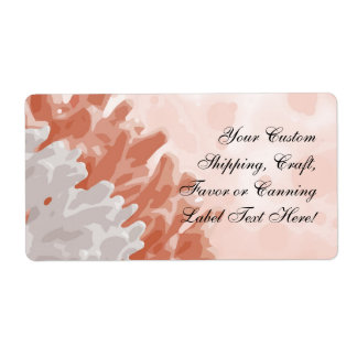 Coral and White Reef Shipping Label