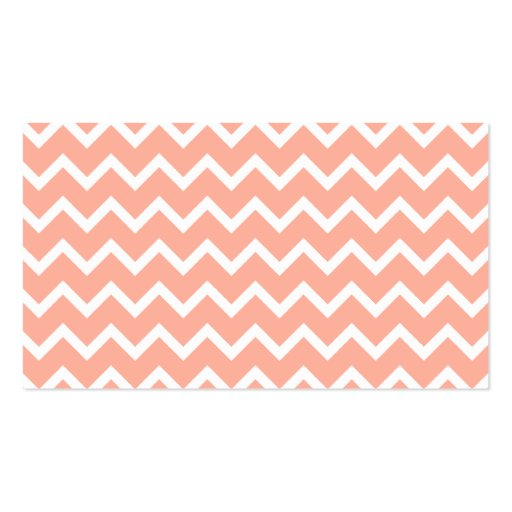 Coral and White Zig Zag Pattern. Business Card