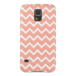 Coral and White Zig Zag Pattern. Case For Galaxy S5