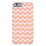 Coral and White Zig Zag Pattern. Barely There iPhone 6 Case