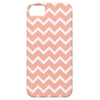 Coral and White Zig Zag Pattern. iPhone 5 Case