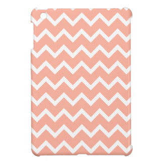 Coral and White Zig Zag Pattern. Cover For The iPad Mini