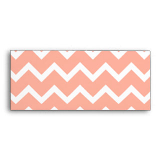 Coral and White Zig Zag Pattern. Envelope